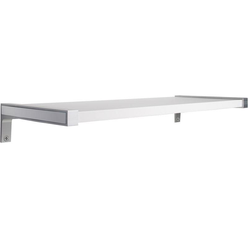 Dolle BELT metal shelf brackets shown with Sumo wooden shelves ...
