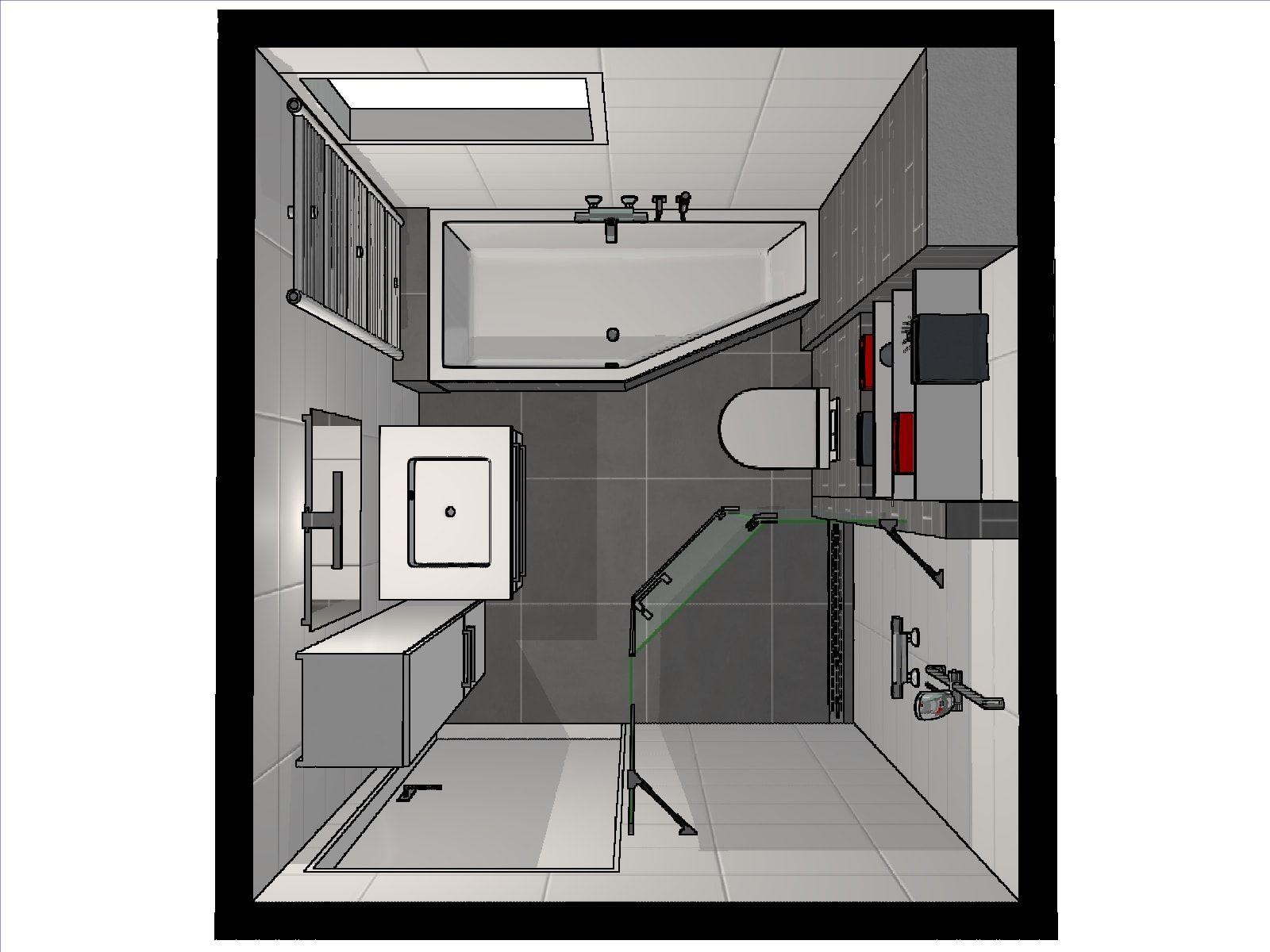 idee voor de indeling van een kleine badkamer door onze