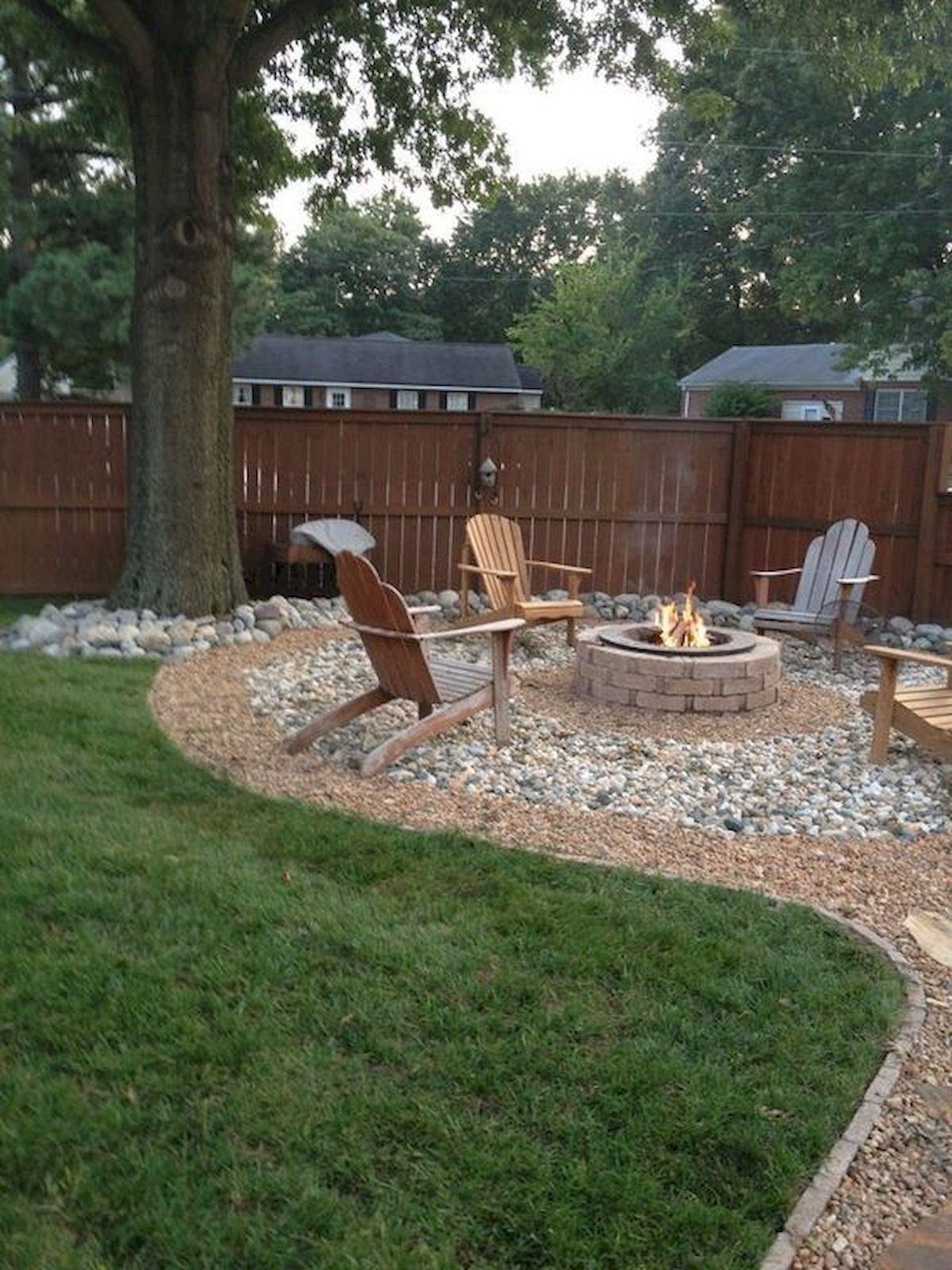 60 Creative Backyard Fire Pit Ideas #backyardmakeover