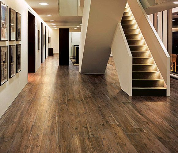 Larix Wood Look Tile Contemporary Hall Detroit By Cercan