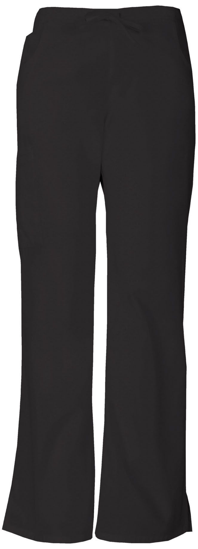 Women's Everyday Signature Mid Rise Drawstring Cargo Pant - Black