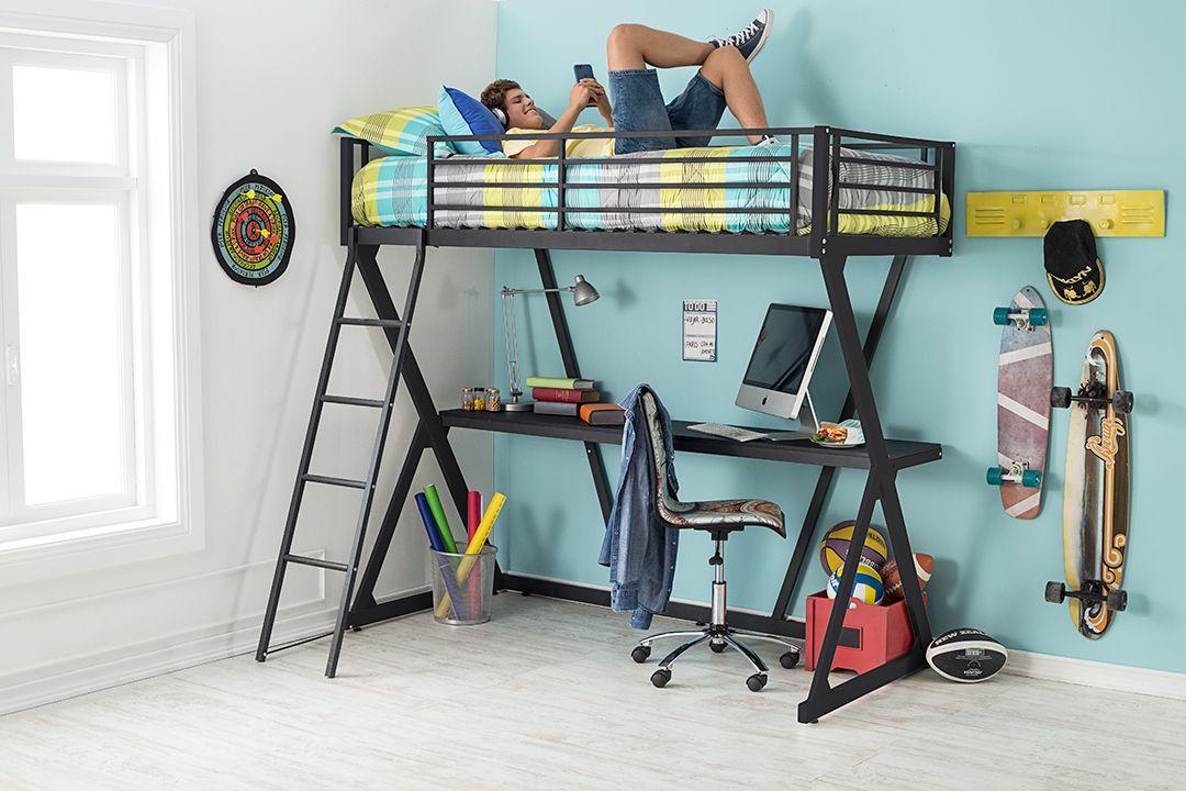 Un camarote con escritorio es lo que necesitas para ahorrar espacio