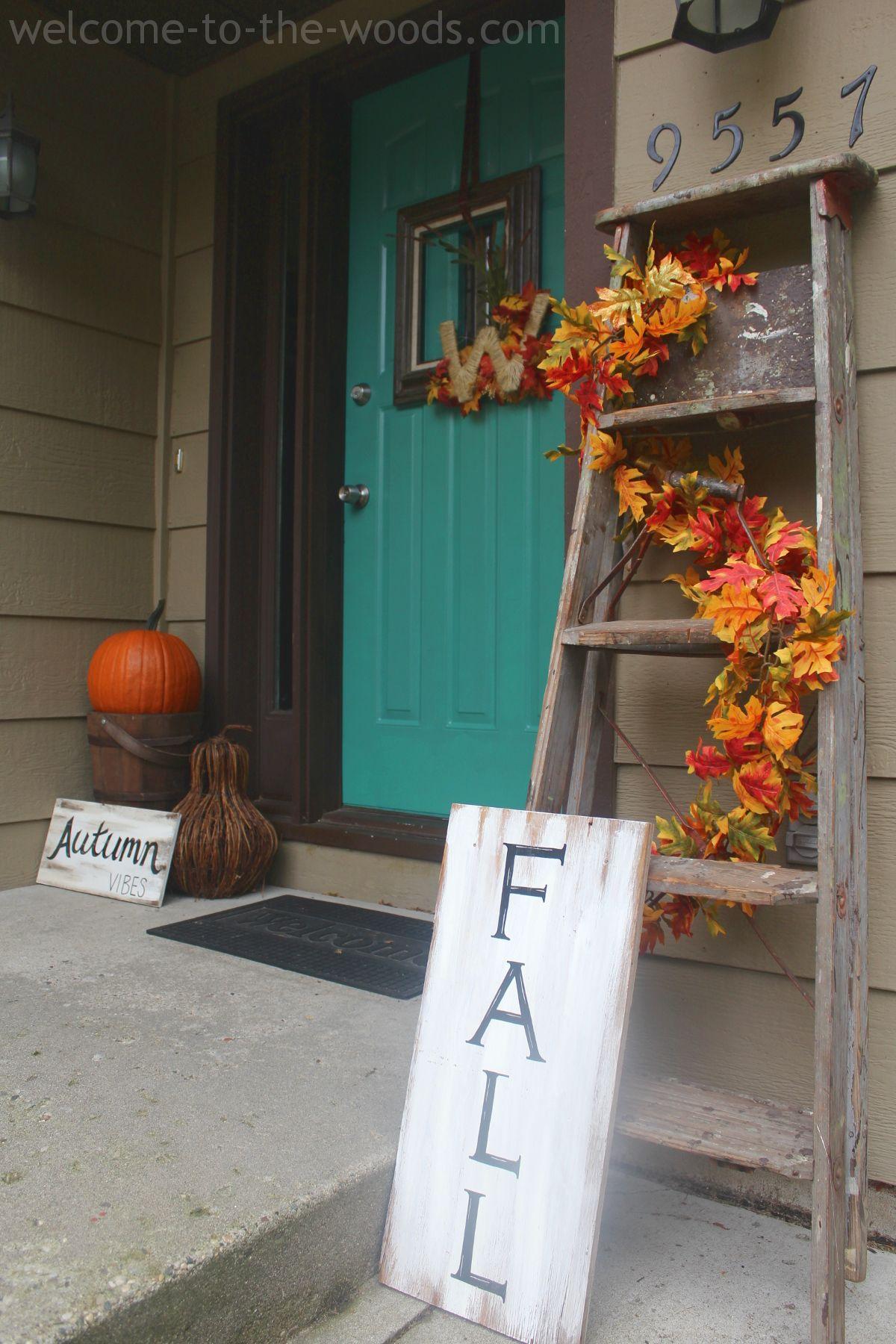Front Step Porch Or Entrance Fall Decor Idea I Love