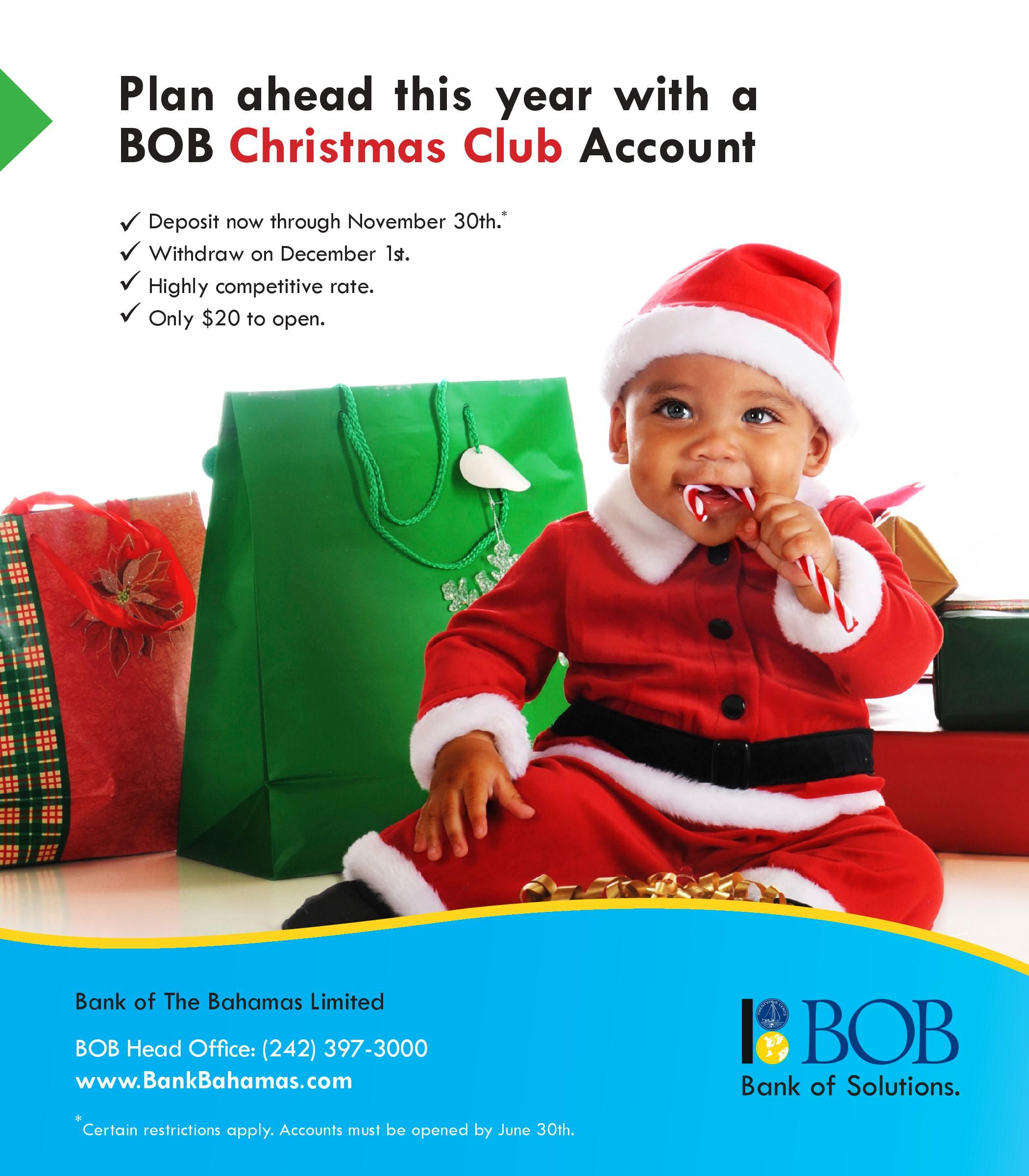 plan ahead with a bob christmas club account and get a highly competitive rate at - Christmas Club Account