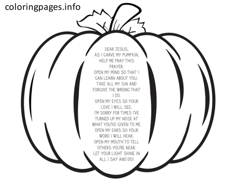 pumpkin prayer coloring pages (With images) | Fall ...