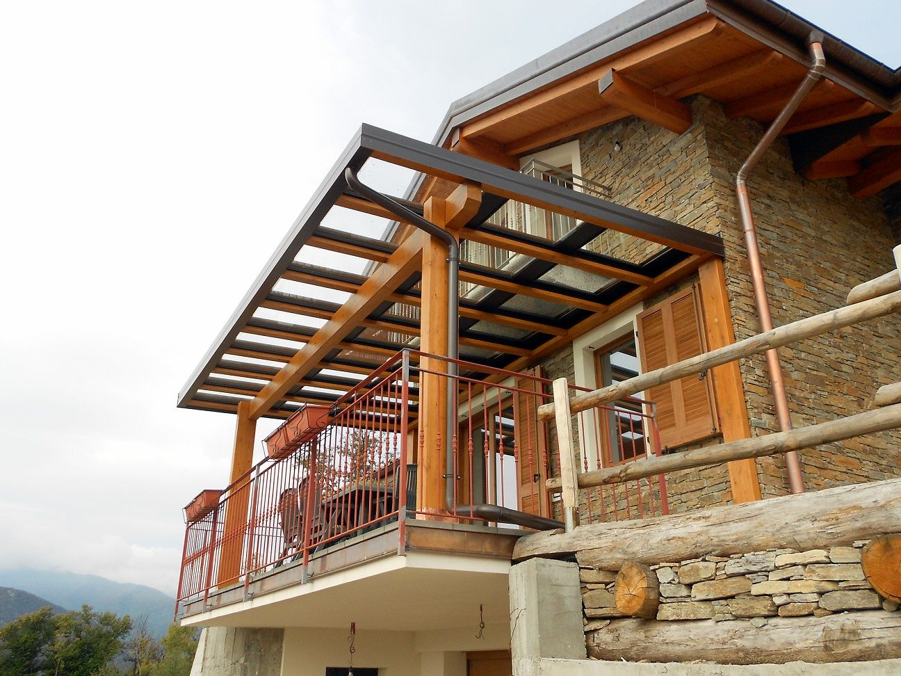 Veranda In Legno Terrazzo pergolato in legno, pergola legno: pergola piùcielo