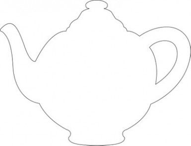 2 teapots teacup cutout templates tea party birthday tea tea