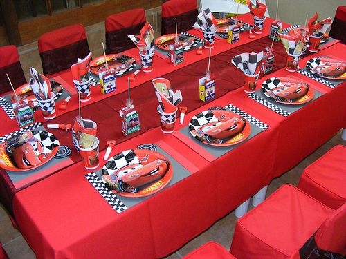 Table set up & Table set up | Cars theme party | Pinterest | Car theme parties