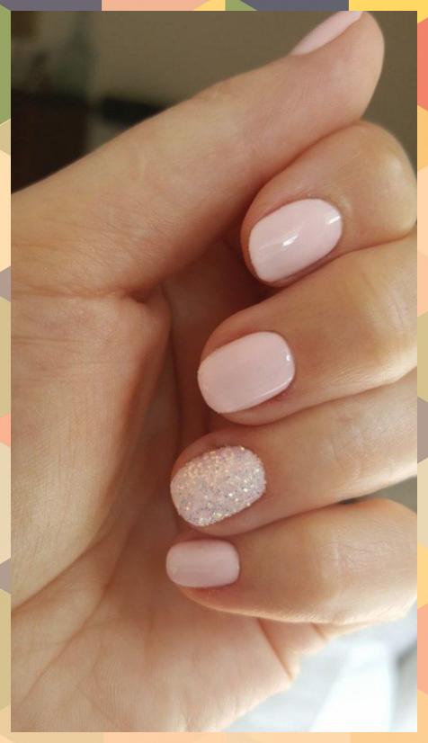 ❤55 glitter gel nail designs for short nails for spring 2019 22 #Designs #gel …