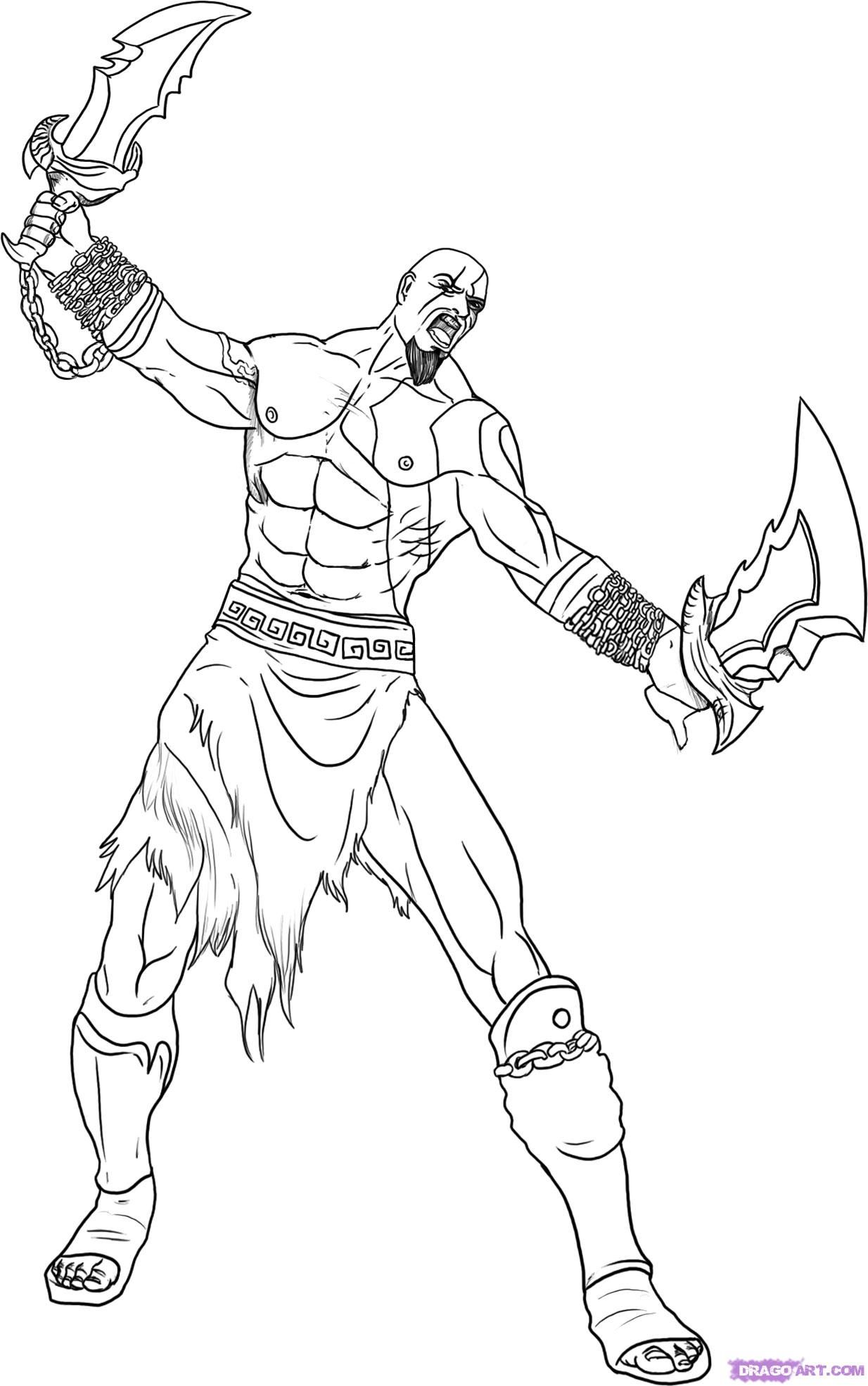 Amazing Kratos God Of War Coloring Pages Dibujos Dibujos
