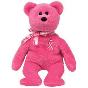 Pink Ribbon Beanie Baby