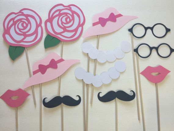 12 Pack Kentucky Derby Classy Ladygentleman Party Photo Booth Props