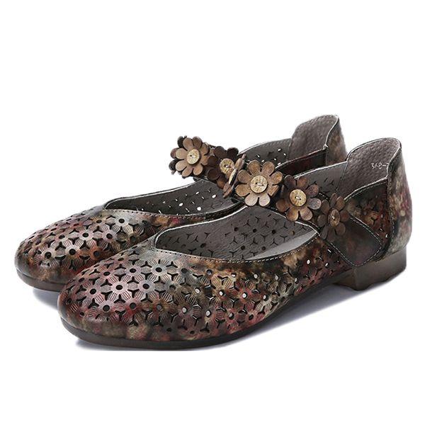 Boucle De Crochet En Cuir Souple Chaussures Plates 6BiHHm