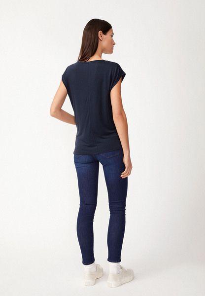 Modelgröße: Unser Model ist 1,76m groß und trägt Größe S Produktbeschreibung: T-Shirt aus Tencel Ausschnitt: Rundhals Herkunftsland: Portugal Länge: 63cm Passform: Loose fit Material: 100% Lyocell (Tencel)