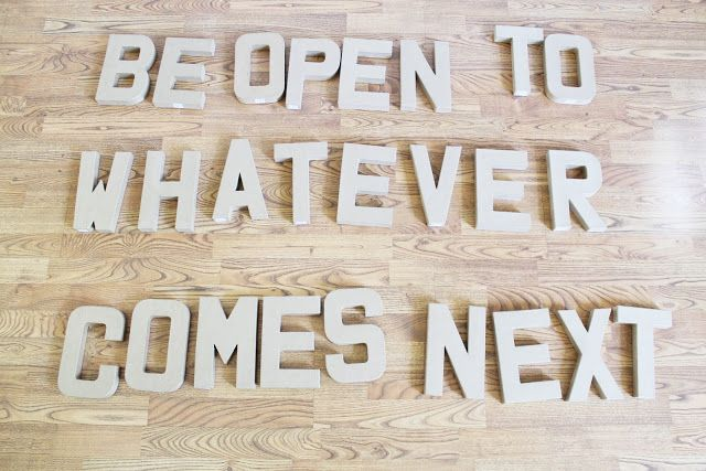 DIY 3D Quote Wall. | Chris Loves Julia
