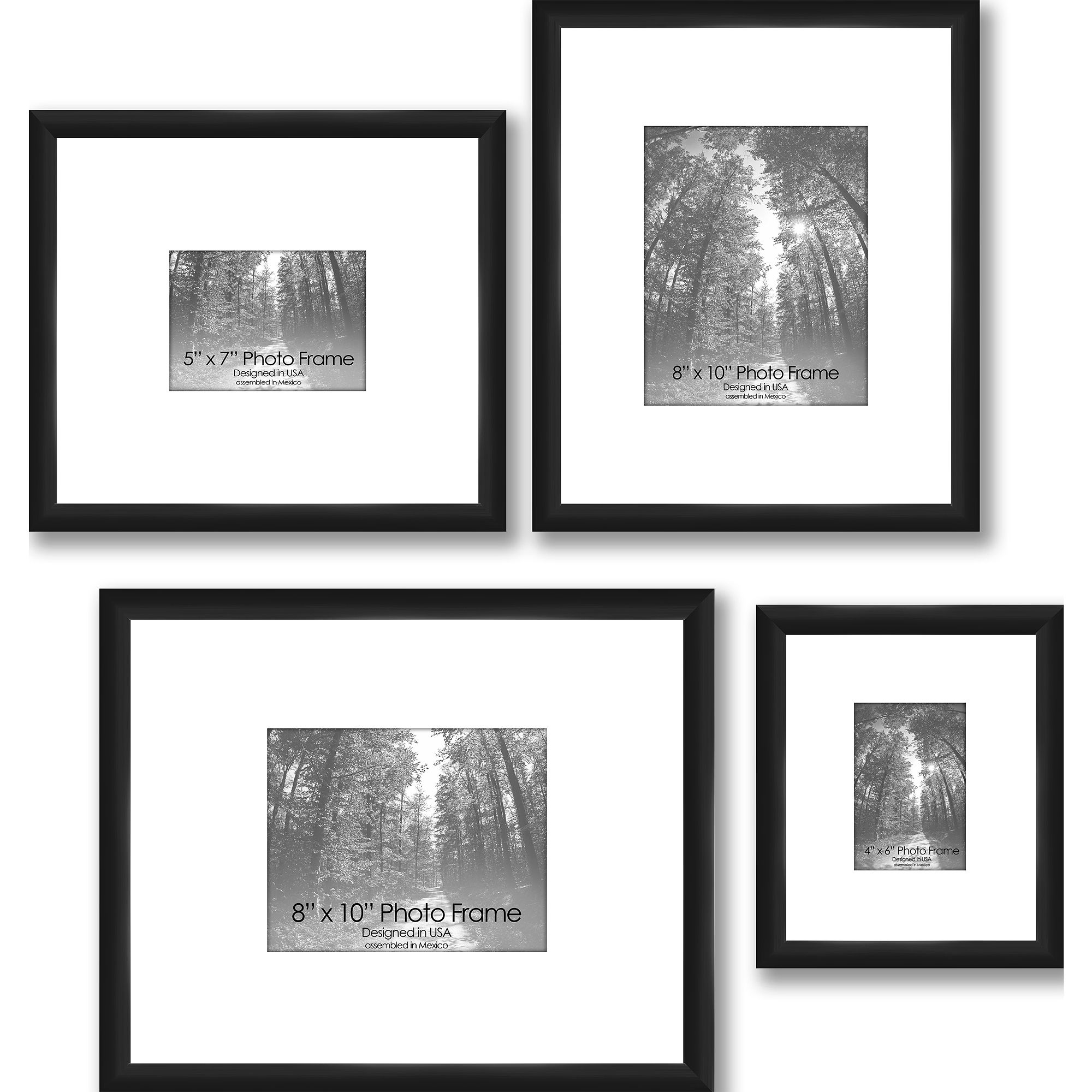 Gallery Frames Set Of 4 Black Walmart Com In 2020 Picture Gallery Wall Gallery Wall Layout Gallery Frames