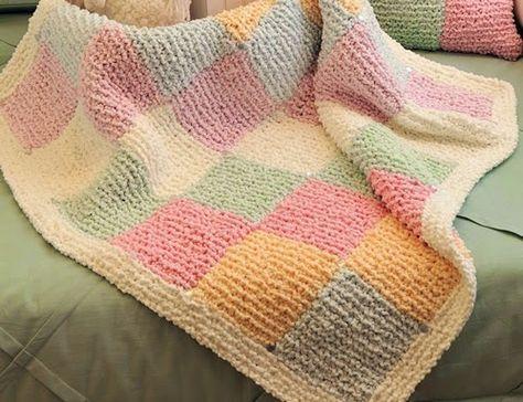 Easy Baby Blanket Knitting Pat | Loom knitting patterns ...