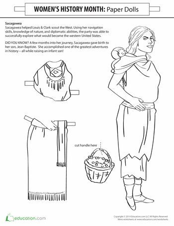 Sacagawea Paper Doll Lewis Clark American Heritage Girls