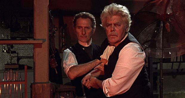 Frankenstein Created Woman 1967 Peter Cushing And Thorley
