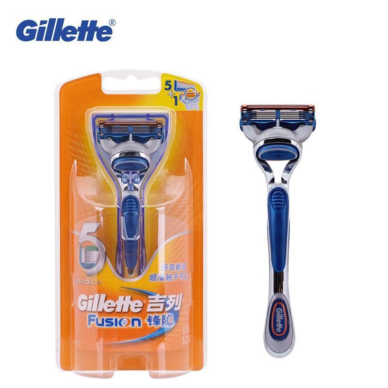 Safety Shaving Razors Genuine Gillette Fusion Shavers For Men Brand Straight Razors 1 Holder With 1 Blade Shaving Razor Gillette Fusion Shaving
