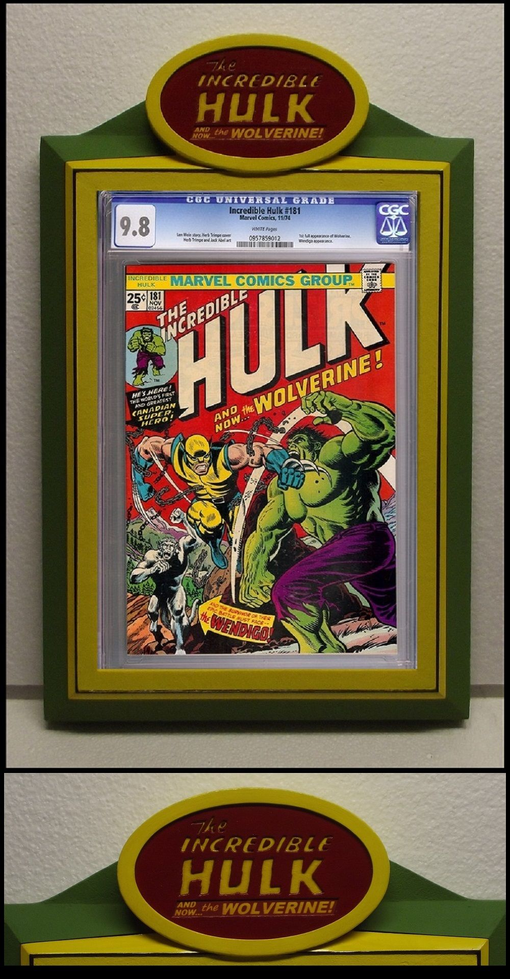 Custom Incredible HULK CGC Comic Book Frame (crafted specifically ...