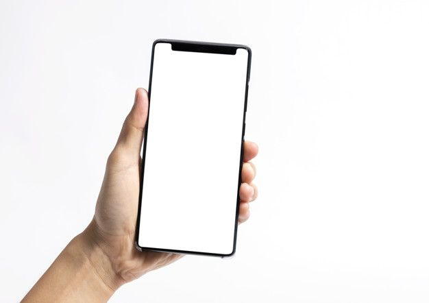 Hand Holding Mobile Phone And Blank Screen For Mockup Template Phone Mobile Phone Phone Gadgets