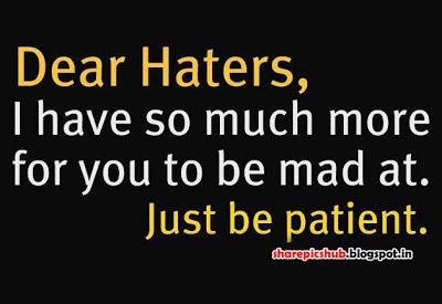 Stress Management For Executives Quotes About Haters Attitude Quotes Image Quotes