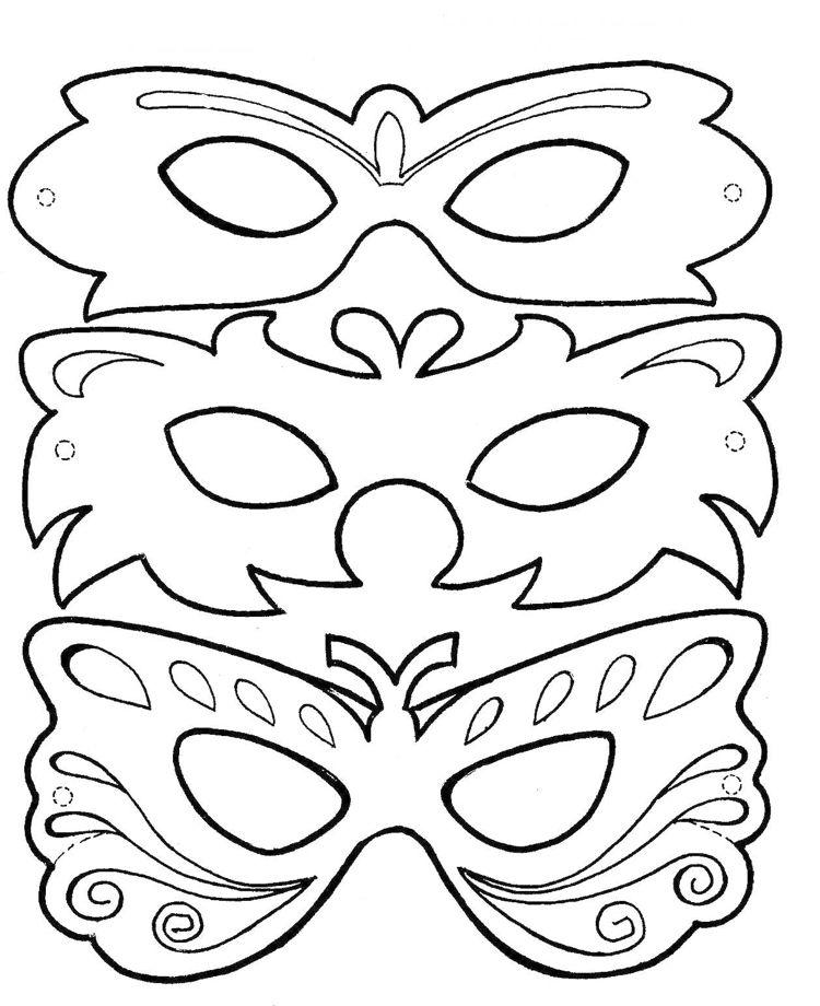 Fasching Masken Ausmalen #children #print #carnival