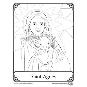 Coloring page - St. Agnes, feast day Jan. 21 | Coloring ...