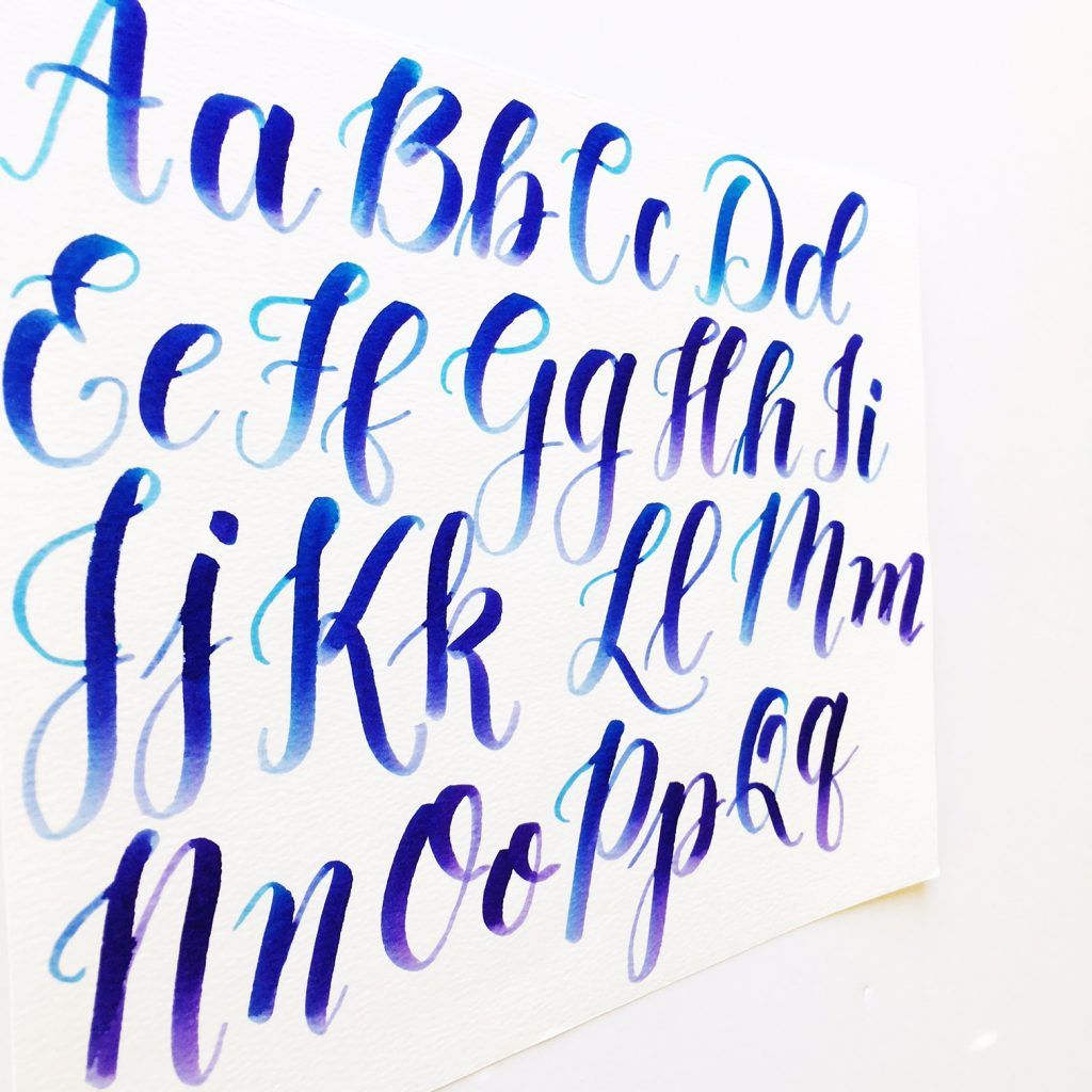Kellyklapstein uppercase large brush pen alphabet thin