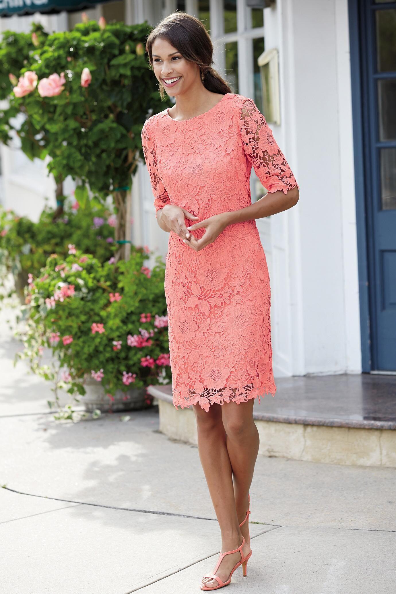 Short Sleeve Lace Overlay Dress | Pinterest | Bonito y Ropa
