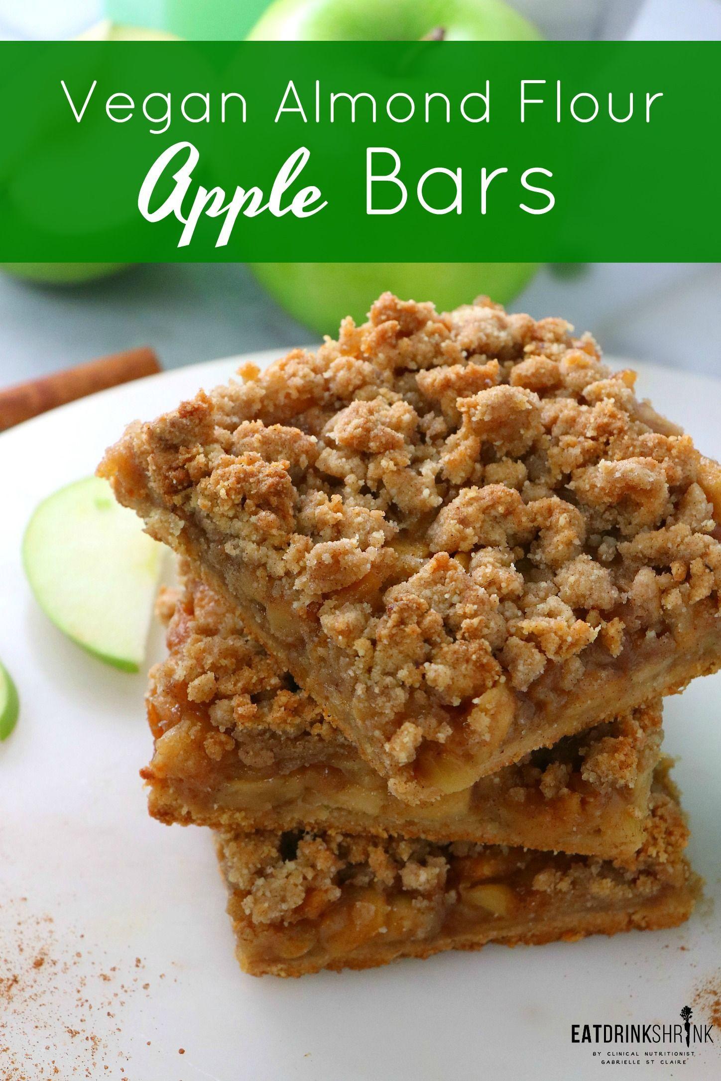 Vegan Almond Flour Apple Bars Eat Drink Shrink Recipe Vegan Apple Dessert Almond Flour Food