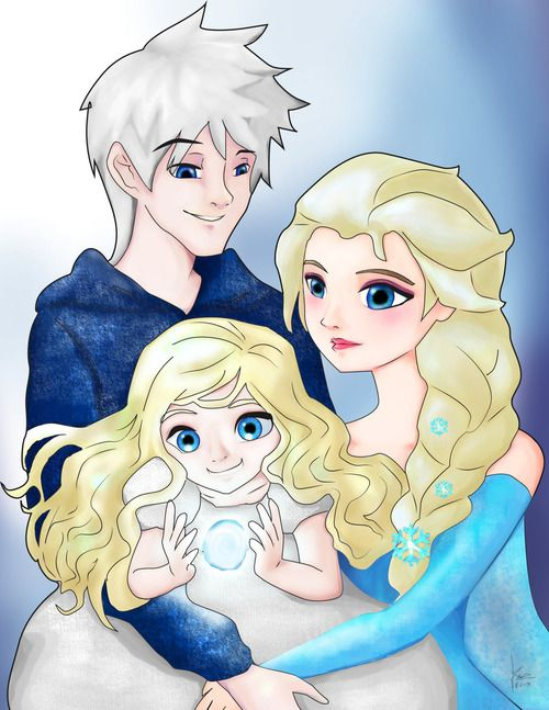 Jack Elsa And Their Daughter Idella With Images Jack Frost