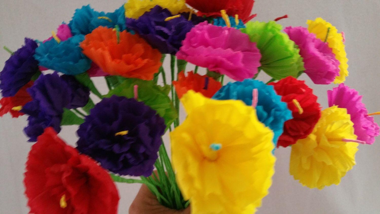 Mexican paper flowers cinco de mayo 10 crepe paper flowers dia de mexican paper flowers cinco de mayo 10 crepe paper flowers dia de los mightylinksfo
