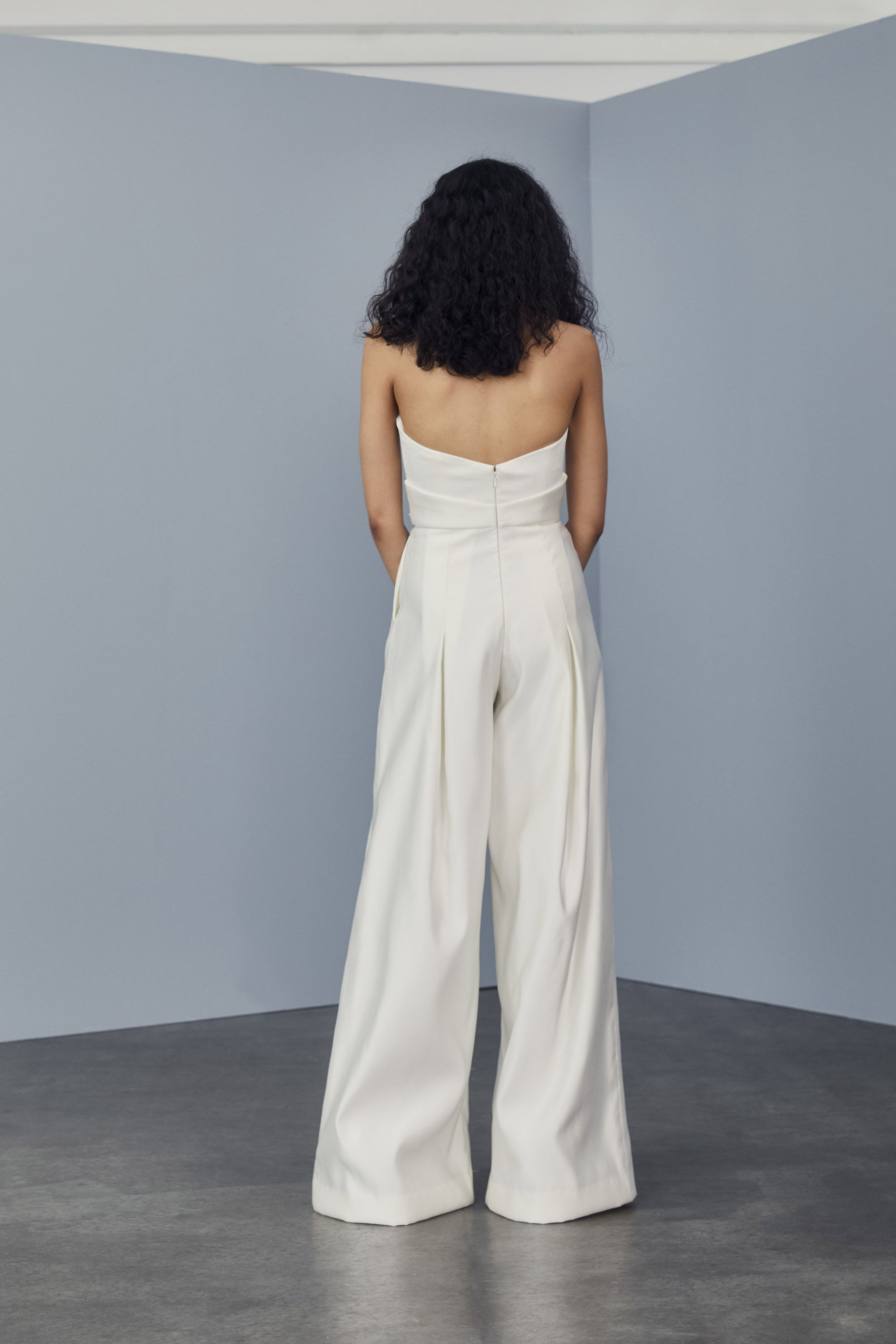 Bridal Jumpsuit with Pockets -