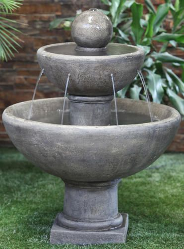 25 2 Tier Bowl Fountain At Menards Modern Fountain Outdoor Water Feature Small Fountains