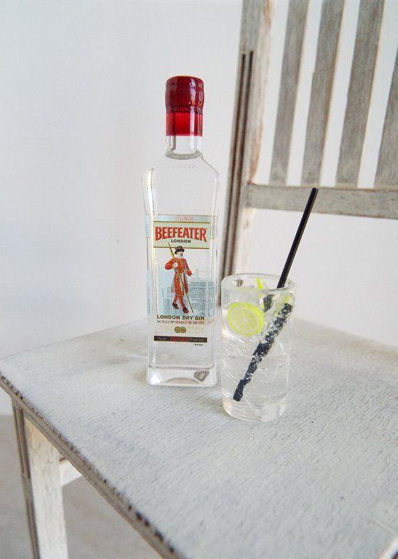 Dollhouse Miniature Size Gin Bottle  # T