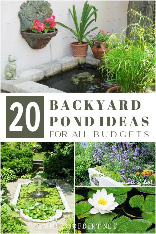 20 Backyard Garden Ponds For All Budgets Diy Garden 400 x 300