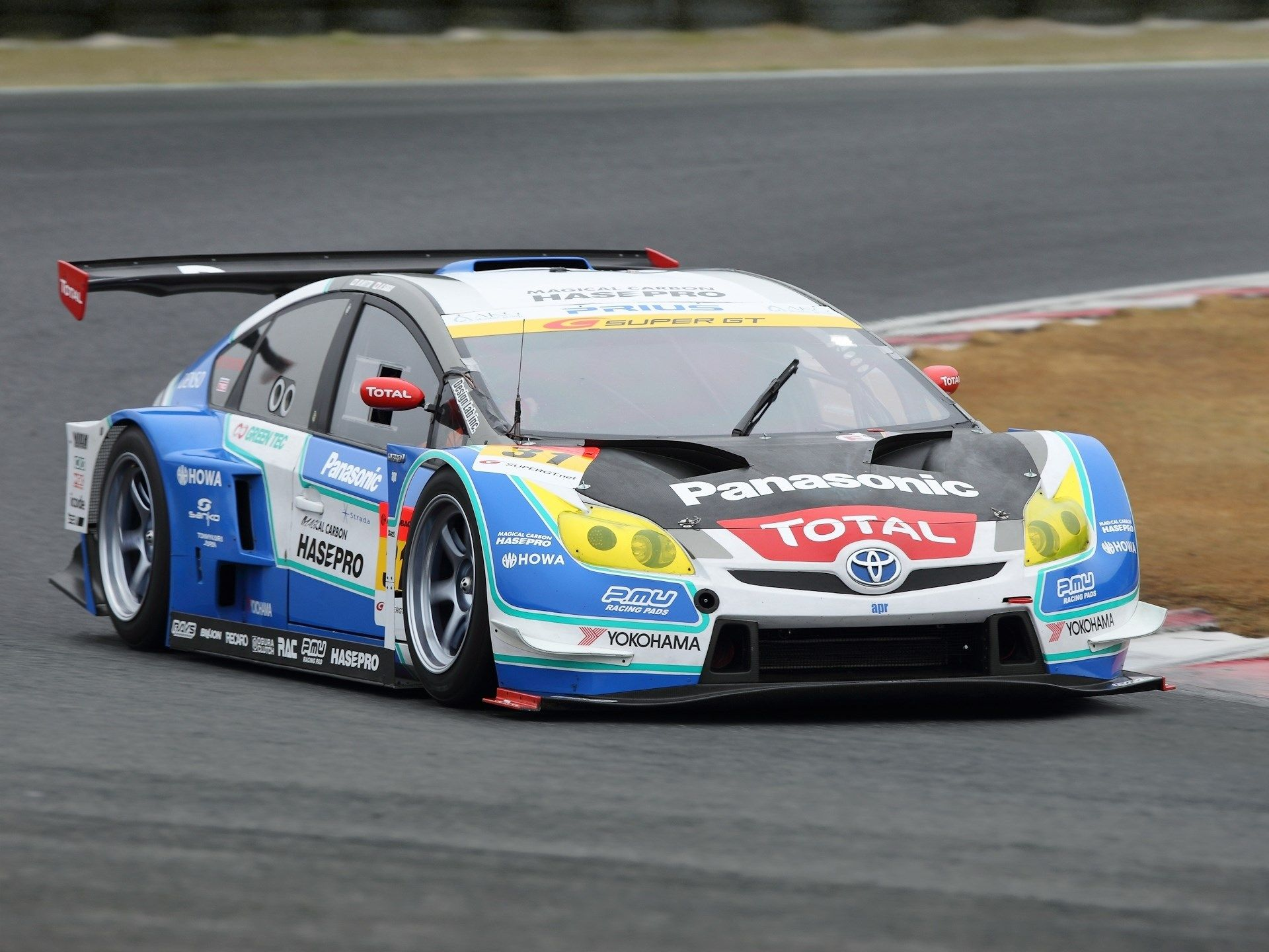High Resolution Wallpaper Super Gt Racing Toyota Prius Race Cars Toyota