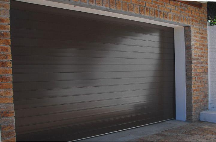 DOUBLE, ALUMINIUM SECTIONAL OVERHEAD GARAGE DOOR – BRONZE ...