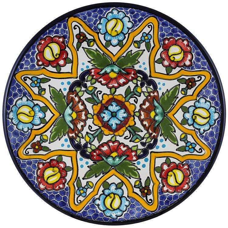 Tomas Huerta TalaveraPlate - Pattern 61 ♥️♣️♣️Talavera Mexican Pottery : More At FOSTERGINGER @ Pinterest 🔷🔹♣️