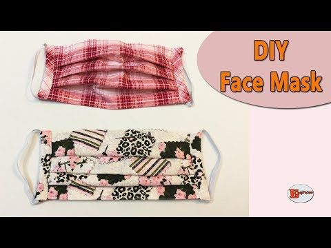 HOW TO MAKE FACE MASK WITH FILTER POCKET AND ADJUSTABLE WIRE | SEWING TUTORIAL