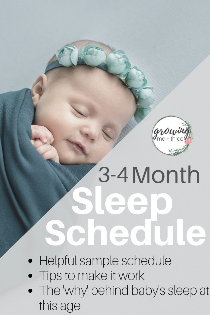 Use this easy sleep schedule to put baby down drowsy but ...
