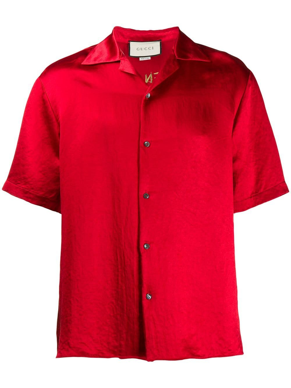 0a85be24f971 Gucci Embroidered acetate bowling shirt in 2019 | Products | Bowling ...