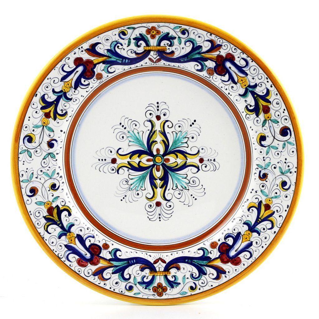 Ricco Deruta Deluxe Dinner Plate In 2020 Ricco Deruta Deruta Ricco