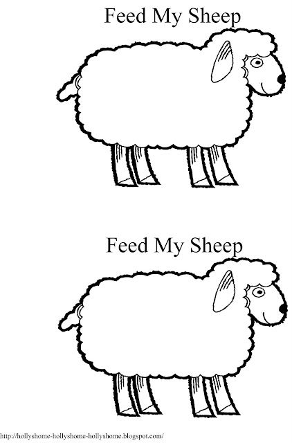 Feed my sheep printout. Glue cottonballs onto the sheep