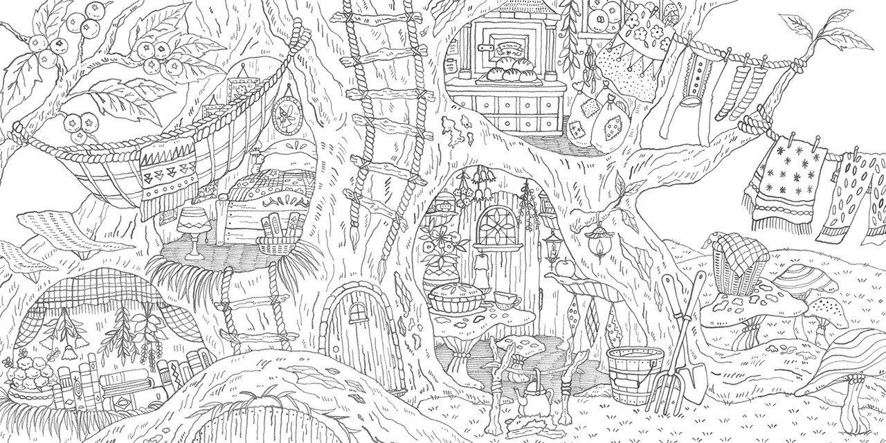 Raskraski Antistress Art Vdohnovenie Hobbi Coloring Books Coloring Pages Enchanted Forest Coloring Book
