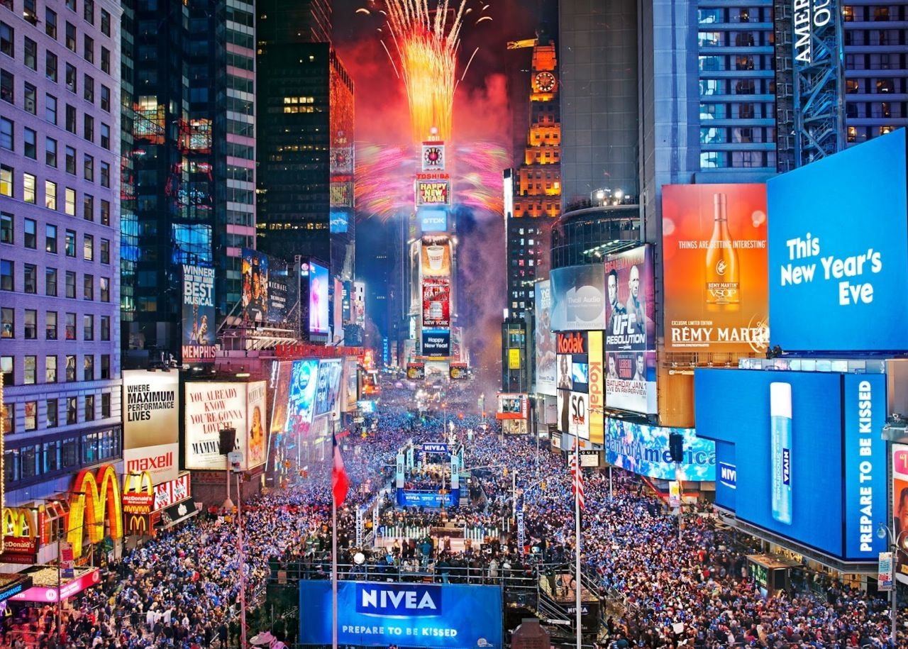Times Square New Years Eve タイムズスクエア, 大晦日, トラベル