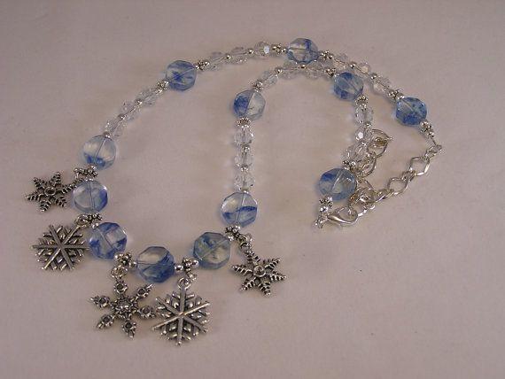 Snowflake Charm Necklace  #Etsy #handmade #jewelry #statteam #promotingwomen