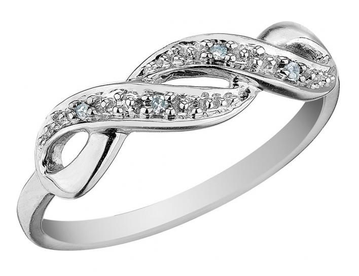 Infinity Diamond Promise Ring In 10k White Gold My Jewelry Box Diamond Promise Rings Diamond Promise Promise Rings